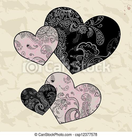 Herz-Illustration. Liebe. Vector Hintergrund. - csp12377578