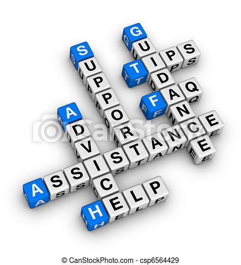 Hilfe und Unterstützung - csp6564429