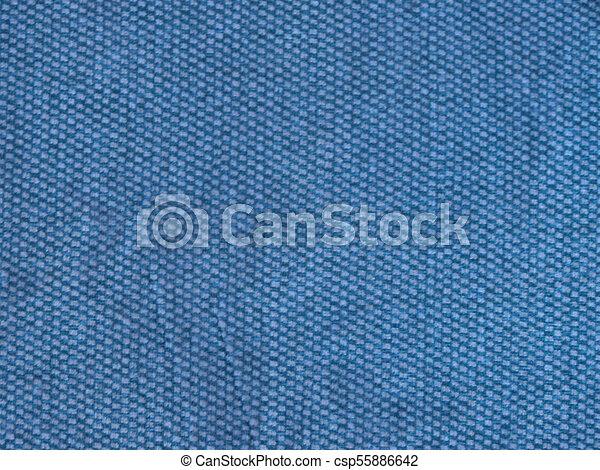 hintergrund, blauer stoff, beschaffenheit - csp55886642