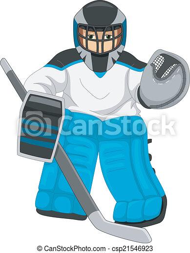 hockey, eis, torwart - csp21546923