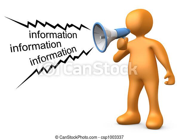 Informationen geben - csp1003337