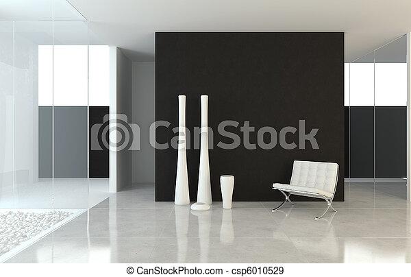 Innenarchitektur moderner B&W - csp6010529