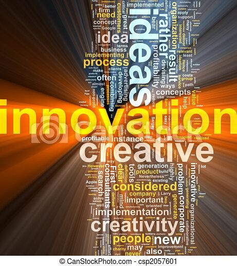 Innovations-Wort leuchtet - csp2057601