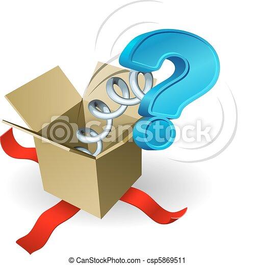 Jack in der Box Fragezeichen Cone - csp5869511