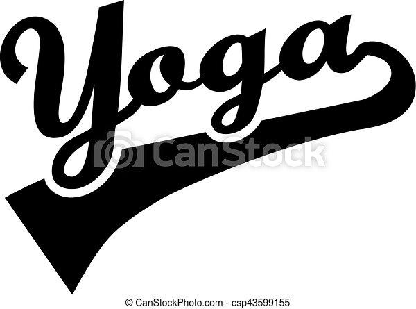 Yoga-Wort - csp43599155