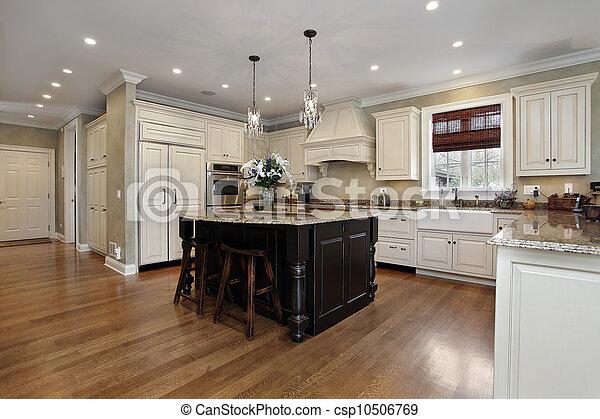 Küche mit weißem Schrank. - csp10506769