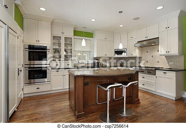 Küche mit weißem Schrank - csp7256614