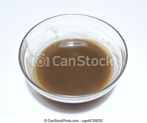 karamell, creme - csp44759232
