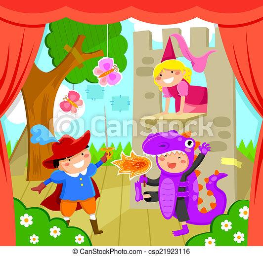 Kinder auf der Bühne - csp21923116