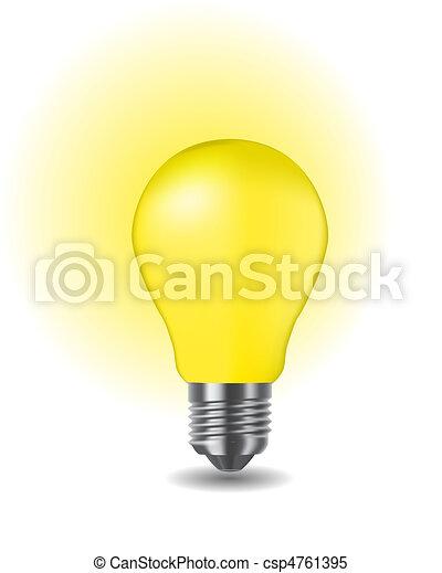 klassisch, glänzend, zwiebel, licht - csp4761395