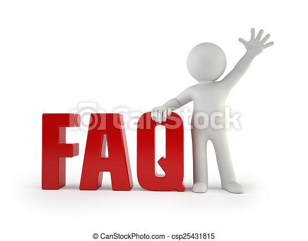 3d kleine Leute - FAQ - csp25431815