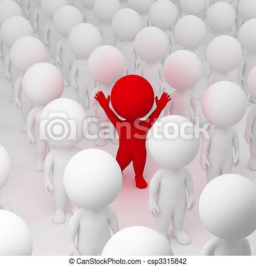 3d kleine Leute - segregate - csp3315842