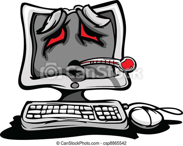 Krank oder kaputter Computer. - csp8865542