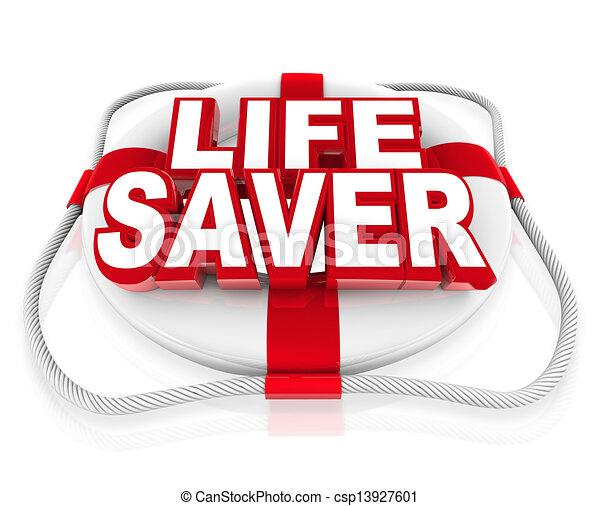 Lebensrettungsmittel helfen in Momenten der Krise oder der Gefahr - csp13927601