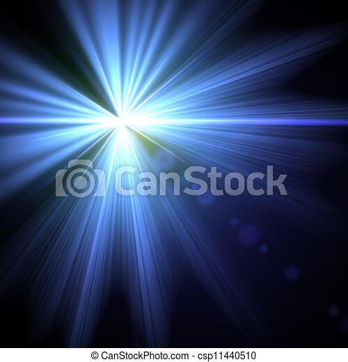 Leuchtfackel-Specialwirkung. Vektor Illustration. - csp11440510