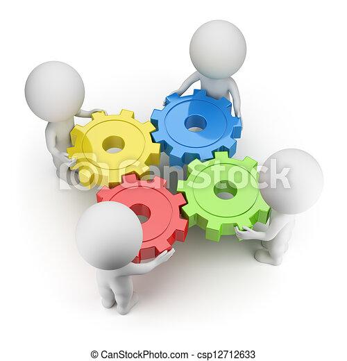 3D kleine Leute - Gänge gedreht - csp12712633