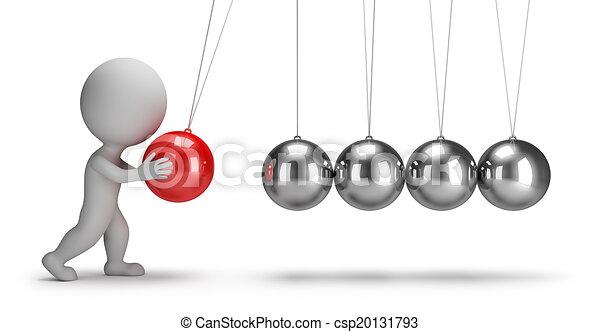 3d kleine Menschen - Newtons Wiege - csp20131793