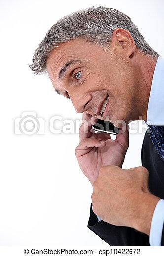 Mann mit Handy - csp10422672