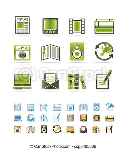Medien und Informations-Ikonen - csp5485686
