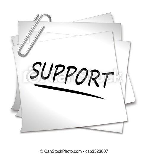 Memo mit Büroklammer - Unterstützung - csp3523807