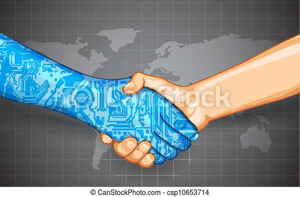 Menschliche Technologie Interaktion - csp10653714