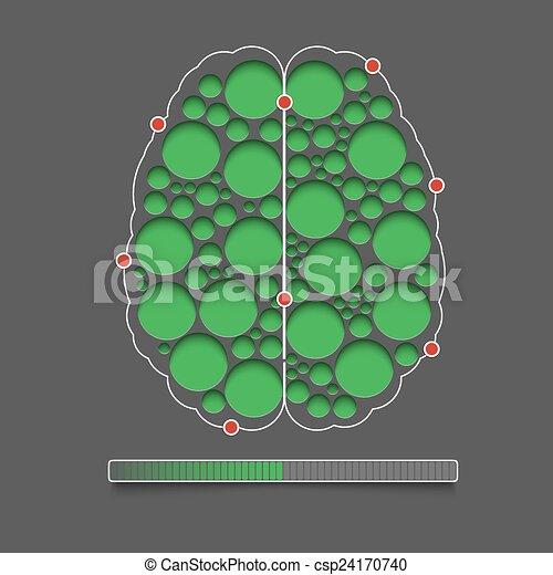 Menschliches Gehirn. - csp24170740