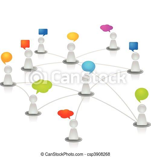Menschliches Netzwerk - csp3908268