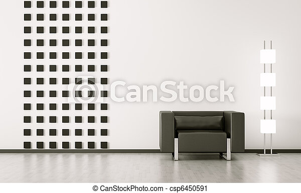 Moderne Innenausstattung von Zimmer 3d - csp6450591