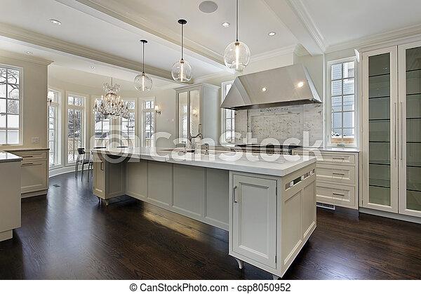 Moderne Küche im neuen Bauhaus - csp8050952