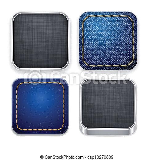 Moderne Quadratlat-Ikonen. - csp10270809