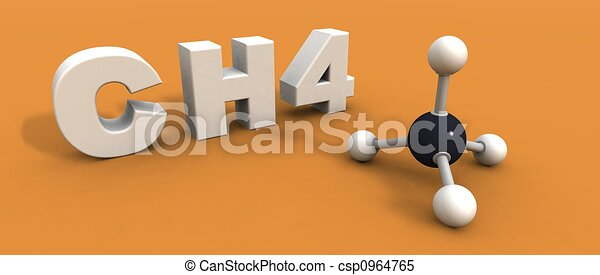 molekül, methan - csp0964765