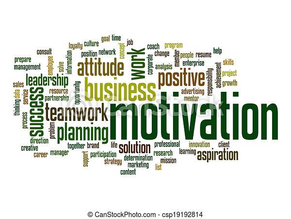 Motivationswortwolke - csp19192814