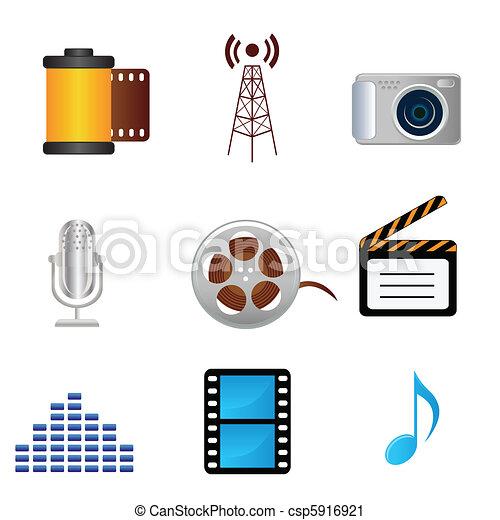 Film, Musik, Medien-Ikonen - csp5916921