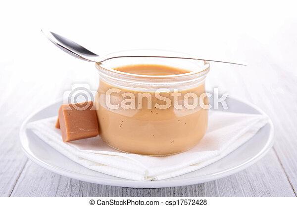 Caramel Sahne Dessert - csp17572428