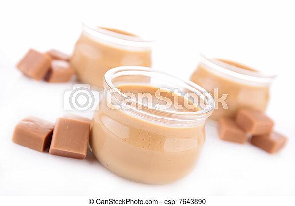 Caramel Sahne Dessert - csp17643890