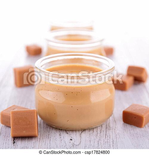 Caramel Sahne Dessert - csp17824800