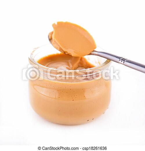 Caramel Sahne Dessert - csp18261636