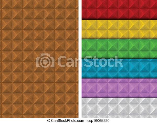 Nahelose Quadratmuster farbenfroh geometric. - csp16065880
