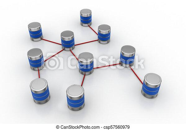 Network Server Konzept. - csp57560979