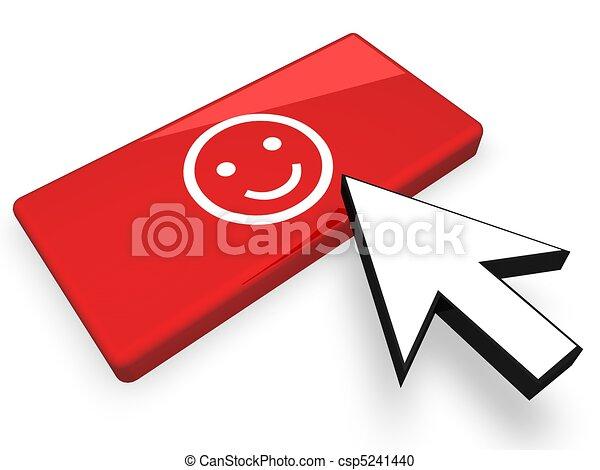 Online lächelndes Gesicht - csp5241440