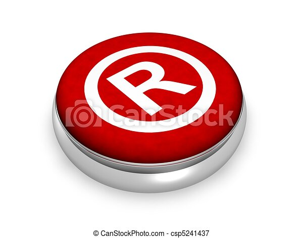 Online registriertes Symbol - csp5241437