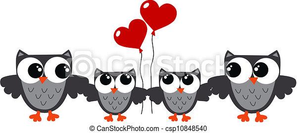 Owl-Familie - csp10848540