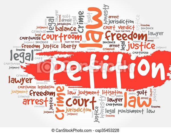 Petitionswortwolke. - csp35453228