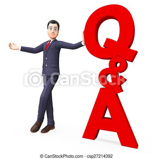 Q und ein Mittel häufig gestellt Fragen und Antworten. - csp27214392