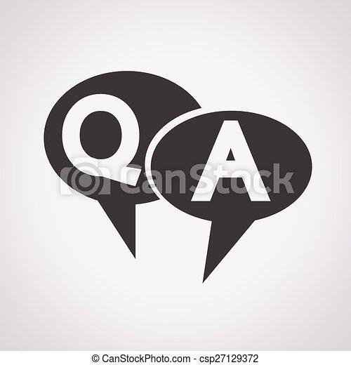 Q&A Symbol ,Anfrage Antwort Icon. - csp27129372