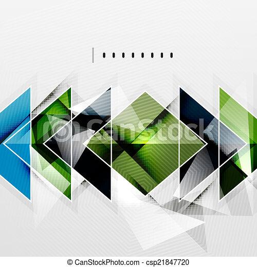 Quadrate und Schatten - technologisch abstrakter Hintergrund. - csp21847720