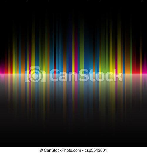 regenbogen, abstrakt, schwarz, farben, hintergrund - csp5543801
