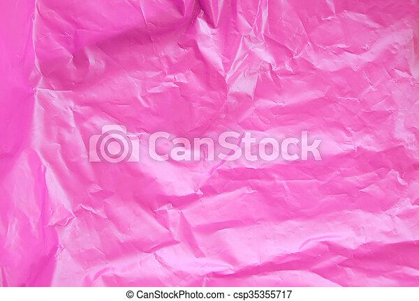 rosa, tasche, beschaffenheit, hintergrund, plastik - csp35355717