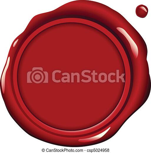 Rotes Wachssiegel - csp5024958