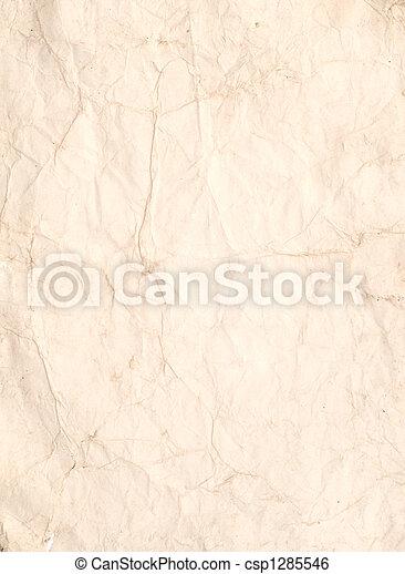 runzelig, papier, altes  - csp1285546